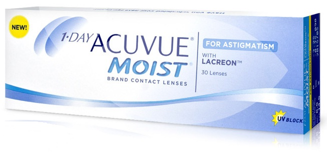 1•DAY ACUVUE® MOIST® FOR SATIGMATISM (30 šošoviek)